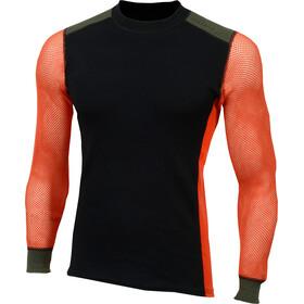Aclima Hiking Girocollo Uomo, nero/arancione